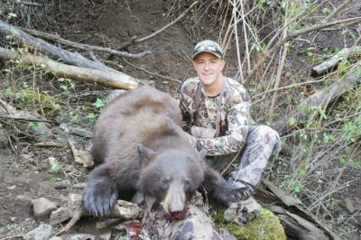 Jake Fife and hunting partner Trevor Dallman with 2 bears in two days! (1)